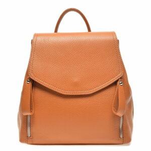 Hnědý kožený batoh Carla Ferreri