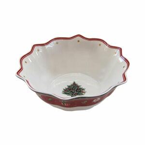 Bílo-červená porcelánová vánoční mísa Toy's Delight Villeroy&Boch, ø 19 cm