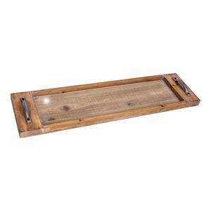 Podnos z jedlového dřeva Antic Line Verre,délka76cm