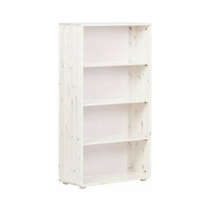 Bílá dětská knihovna z borovicového dřeva Flexa Classic, výška 133 cm