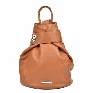 Hnědý kožený batoh Anna Luchini