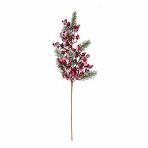 Dekorativní větev Ego Dekor Frozen Berries,výška60cm