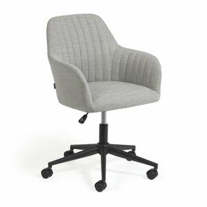 Světle šedá kancelářské židle La Forma Madina