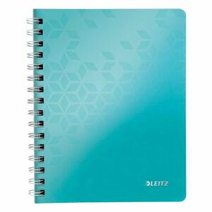Tyrkysově modrý linkovaný blok Leitz A5, 80 stran