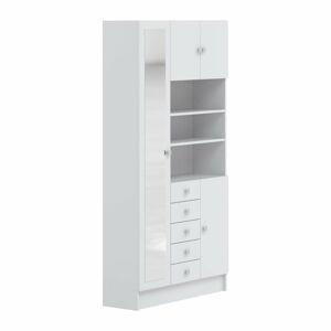 Bílá koupelnová skříňka Symbiosis Combi,šířka90cm