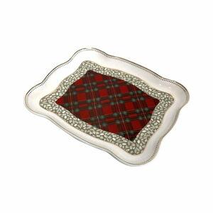 Porcelánový servírovací talíř s vánočním motivem Brandani Vassoietto, délka 19 cm