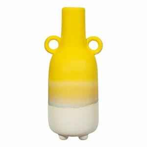 Žlutá váza Sass & Belle Bohemian Home Mojave, výška 23 cm
