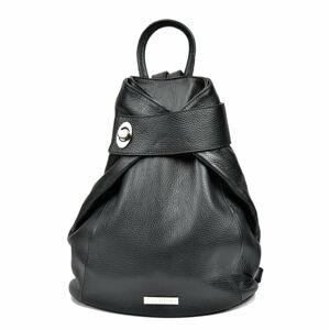 Černý kožený batoh Anna Luchini