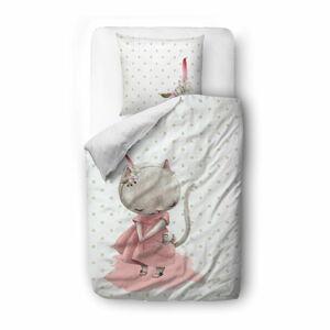Bavlněné dětské povlečení Mr. Little Fox Mouse, 100 x 130 cm