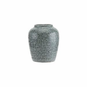 Šedá vzorovaná váza A Simple Mess Alia, ⌀9,2cm