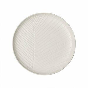 Bílý porcelánový talíř Villeroy & Boch Leaf, ⌀ 24 cm