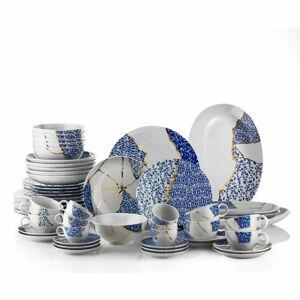 28dílná sada porcelánového nádobí Kütahya Porselen Cracks