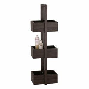 Dřevěný stojan do koupelny z dubového dřeva Wireworks Caddy Mezza Dark, 84 cm