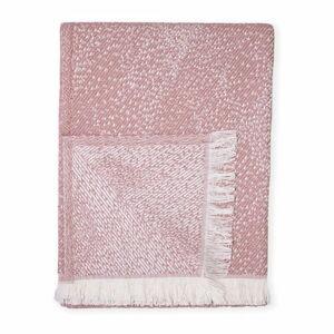 Růžový pléd s podílem bavlny Euromant Dotty Diamond, 140 x 180 cm
