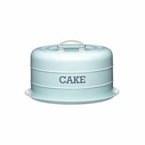 Modrá plechová dóza na koláč Kitchen Craft Nostalgia,⌀28,5cm