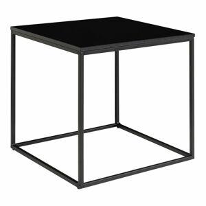 Černý odkládací stolek s ocelovým rámem House Nordic Vita, 45 x 45 cm