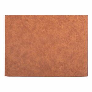 Oranžovohnědé prostírání z imitace kůže ZicZac Troja Rectangle,33x45cm