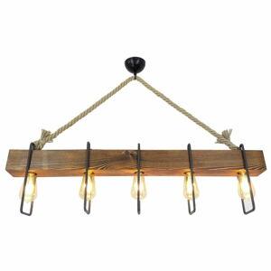 Dřevěné stropní závěsné svítidlo Demir, 5žárovek