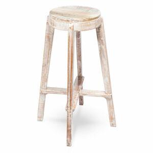 Dřevěná ručně malovaná stolička RGE Barry, výška 77cm