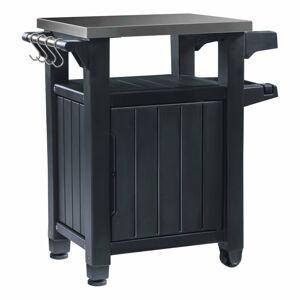 Tmavě šedý zahradní odkládací stolek Keter, 82 x 90 cm
