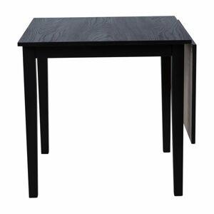 Černý rozkládací jídelní stůl z dubového dřeva Canett Salford, 75 x 75 cm