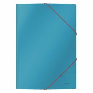 Sada 6 modrých kancelářských desek s hebkým povrchem Leitz Cosy, A4