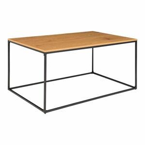Konferenční stolek s černým kovovým rámem a deskou v dubovém dekoru House Nordic Vita, 90 x 60 cm