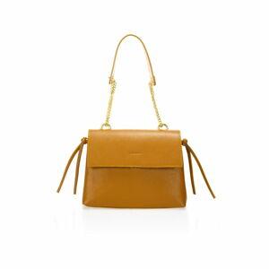 Oranžová kožená kabelka Federica Bassi Anna
