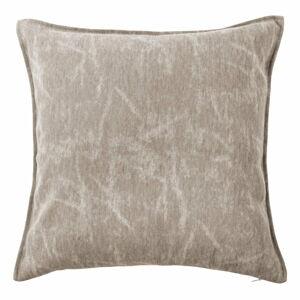 Béžovošedý dekorativní polštář Tiseco Home Studio Chester,44x44cm