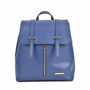 Modrý kožený batoh Sofia Cardoni Angelica