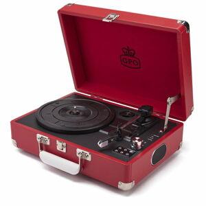 Červený gramofon s rádiem GPO Attache Red