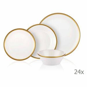 24dílný set porcelánového nádobí Mia Halos Gold