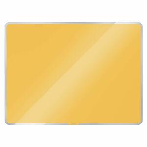 Žlutá skleněná magnetická tabule Leitz Cosy, 60 x 40 cm