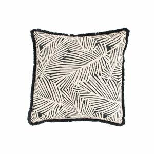 Černo-bílý zahradní polštář Hartman Jungle, 50x50cm