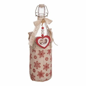 Lahev v úložném textilním košíku Unimasa Christmas