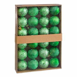 Sada 24 vánočních ozdob v zelené barvě Unimasa Aguas, ø 4 cm