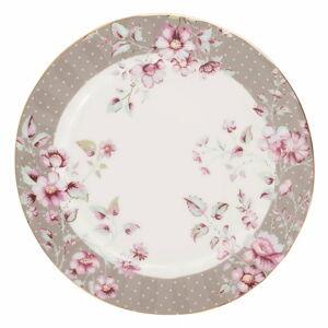Šedobílý porcelánový dezertní talíř Creative Tops Ditsy