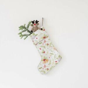 Vánoční lněná závěsná dekorace Linen Tales Merry
