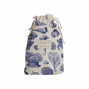 Cestovní vak s příměsí lnu Linen Couture Blue Coral, délka 44 cm