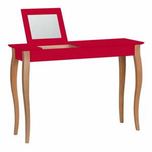Červený toaletní stolek se zrcadlem Ragaba Lillo, šířka105cm