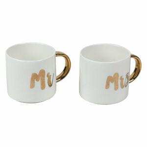 Sada 2 porcelánových hrnečků Villa d'Este Mr & Mrs,280ml