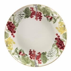 Porcelánový talíř s vánočním motivem Brandani Sottobosco, ⌀ 33,5 cm