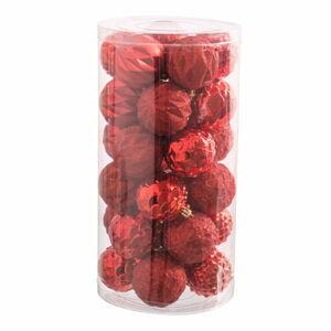 Sada 30 červených vánočních ozdob Unimasa Balls