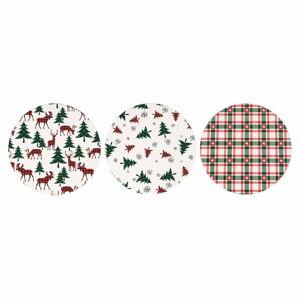 Sada 24 vánočních podtácků z keramiky a korku Villa d'Este Denver,ø10cm