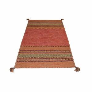 Oranžový bavlněný koberec Webtappeti Antique Kilim, 60 x 90 cm