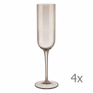 Sada 4 hnědých sklenic na šampaňské Blomus Mira, 210 ml