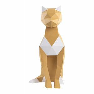Kreativní sada pro skládání zpapíru Papertime Hnědá Kočka