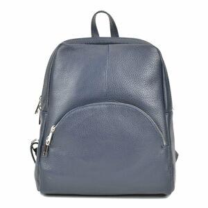 Tmavě šedý kožený batoh Renata Corsi