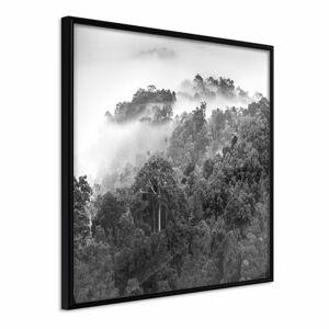 Plakát v rámu Artgeist Foggy Forest, 20 x 20 cm