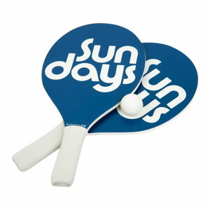 Set 2 pálek a míčků na plážový tenis Sunnylife Indigo